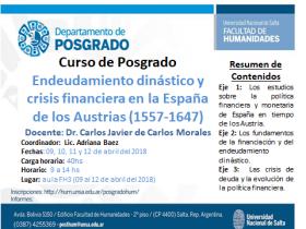 """Leer más:Curso de posgrado: """"Endeudamiento dinástico y crisis financiera en España de los Austrias..."""