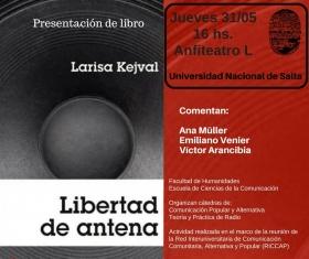 """Leer más:Presentación del libro """"Libertad de antena"""""""