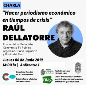 """Leer más:Charla: """"Hacer periodismo económico en tiempos de crisis"""""""