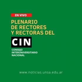 Leer más:Plenario de Rectores y Rectoras del CIN