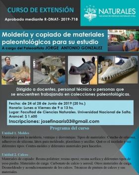 """Leer más:Curso sobre """"Moldería y Copiado Paleontológicos para su estudio"""""""