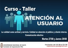 """Leer más:Curso - Taller """"Atención al Usuario"""" para el PAU"""