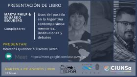 Leer más:Presentación del libro: Usos del pasado en la Argentina contemporánea: memorias, instituciones y...