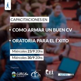 Leer más:Capacitaciones sobre armado de CV y Oratoria