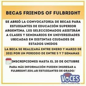 Leer más:BECAS FRIENDS OF FULBRIGHT