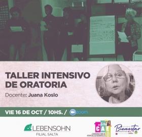 Leer más:Taller intensivo de Oratoria