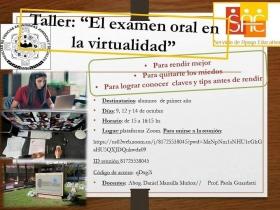 Leer más:Taller: El examen oral en la virtualidad