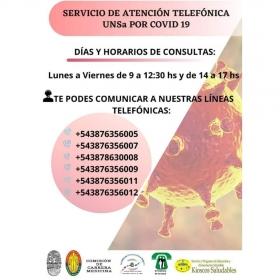 Leer más:Servicio de atención telefónica por COVID-19