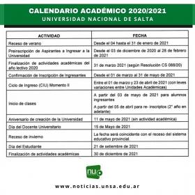 Leer más:Calendario Académico 2021
