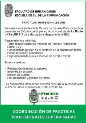 Leer más:Practicas Profesionales en Radio Universidad