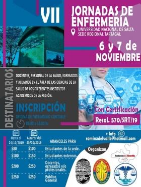 Leer más:VII Jornadas de Enfermería en Sede Regional Tartagal