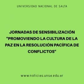 """Leer más:Jornadas de Sensibilización """"Promoviendo la Cultura de la Paz en la resolución pacífica de..."""