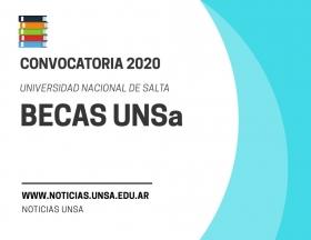 Leer más:Convocatoria Becas UNSa 2020