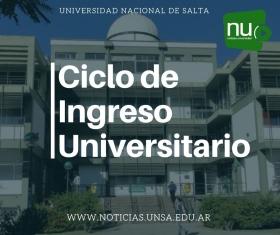 Leer más:Ciclo de Ingreso Universitario UNSa 2019-2020