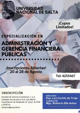 Leer más:Especialización en Administración y Gerencia Financiera Públicas