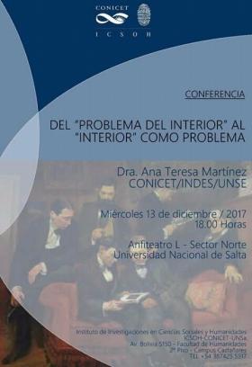 """Leer más:Conferencia : Del """"Problema del interior"""" al """"Interior"""" como problema"""""""