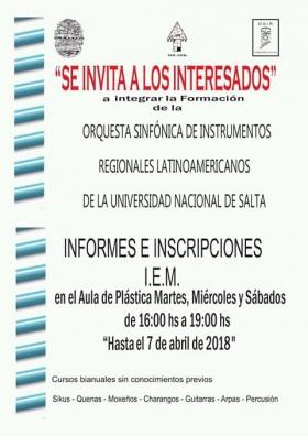Leer más:Orquesta Sinfónica de Instrumentos Regionales