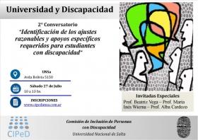"""Leer más:Segundo Conversatorio """"Universidad-Discapacidad: Identificación de los ajustes razonables y..."""