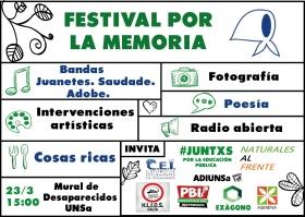 """Leer más:""""Festival por la memoria"""""""