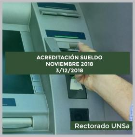 Leer más: ACREDITACION SUELDOS NOVIEMBRE 2018