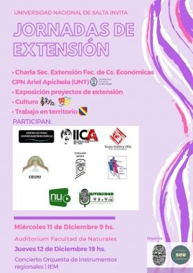 Leer más:Jornadas de Extensión en la UNSa