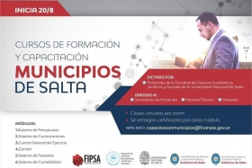Leer más:La UNSa brindará capacitaciones en los Municipios de Salta
