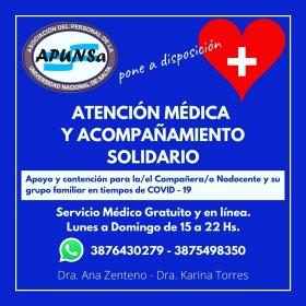 Leer más:APUNSa: Atención médica y acompañamiento solidario