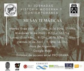 Leer más:XI Jornadas de Historias Moderna y Contemporánea