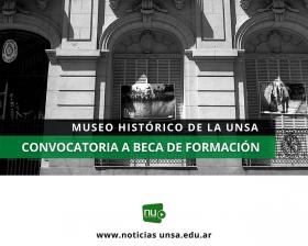 Leer más:Convocatoria a beca de formación para el Museo de la UNSa