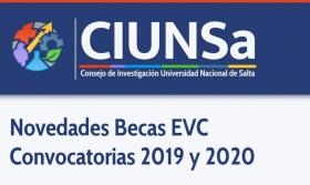 Leer más:Novedades Becas EVC Convocatorias 2019 y 2020