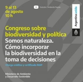 Leer más:Congreso sobre biodiversidad y política