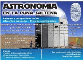 """Leer más:Ciclo de conferencias: """"Astronomía en la Puna Salteña. Avances y perspectivas de los diferentes..."""