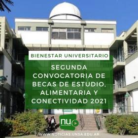 Leer más:Segunda Convocatoria de Becas de Estudio, Alimentaria y Conectividad 2021