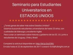 Leer más:Seminario para Estudiantes Universitarios en EE.UU.
