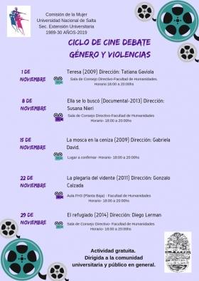 Leer más:Ciclo de Cine Debate: Género y violencias
