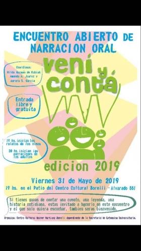 Leer más:Hoy, habrá un Encuentro de Narración Oral en el Centro Cultural Holver Martínez Borelli