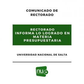Leer más: El rectorado informa la gestión lograda en materia presupuestaria