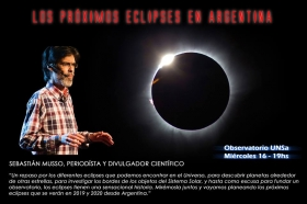 Leer más:Charla sobre los próximos eclipses en Argentina