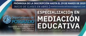Leer más:Especialización en Mediación Educativa
