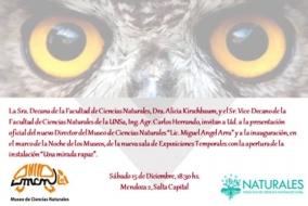 Leer más:Presentación oficial del nuevo Director e instalaciones del Museo de Ciencias Naturales de la UNSa