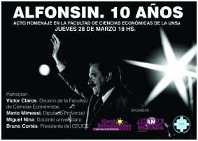 Leer más: Acto homenaje: Alfonsín – 10 Años