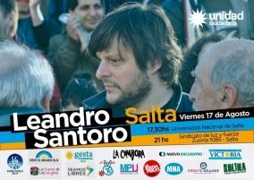 Leer más:Leandro Santoro disertará en la UNSa