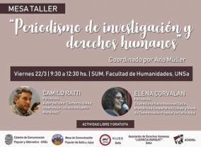 """Leer más:Mesa Taller: """"Periodismo de Investigación y Derechos Humanos"""""""