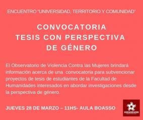 Leer más:Convocatoria para subvencionar Tesis con Perspectiva de Género