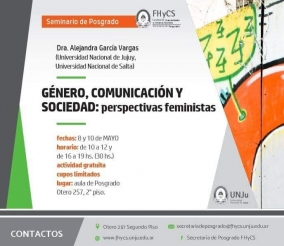 """Leer más:Seminario de Posgrado: """"Género, Comunicación y Sociedad: perspectiva feminista"""""""