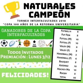 Leer más:Copa 100 Años de la Reforma Universitaria