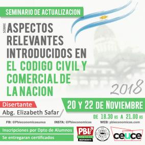 """Leer más:Seminario de Actualización sobre """"Aspectos relevantes introducidos al código civil y comercial de..."""