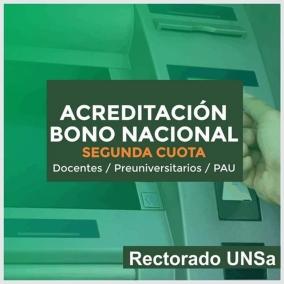 Leer más:ACREDITACIÓN SEGUNDA CUOTA DEL BONO DEL MINISTERIO DE EDUCACIÓN DE LA NACIÓN
