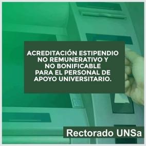 Leer más:ACREDITACIÓN ESTIPENDIO NO BONIFICABLE Y NO REMUNERATIVO PARA EL PERSONAL DE APOYO UNIVERSITARIO