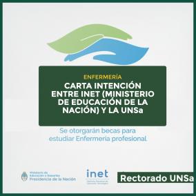 Leer más:CARTA INTENCIÓN ENTRE LA U.N.Sa. Y EL INET